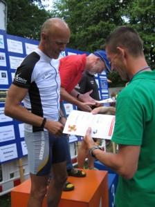 2. Platz in seiner Altersgruppe bei der olmypischen Distanz: Peter Sokoll
