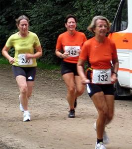 Rita, Heidi und Susanne nach der 1. Runde