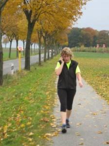 Birgit bei ihrer neuen Lieblingsdiziplin > dem Phone-Running