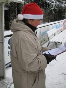 Sorgfältige Listenführung von Gudrun (Foto: Susanne)