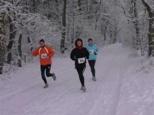 Uwe, Sabine und Birgit im Winterwald (Foto: Inge)