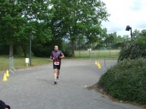 Daniel auf der Laufstrecke