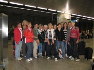 Die Gruppe vor dem Abflug in Hannover